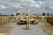 Woodhenge, Chainsaw Sculpture, Wragby, Lincolnshire
